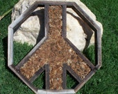 DO IT YOURSELF Peace Sign Vertical Planter Only No Plants