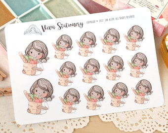 Kawaii Girl Grocery Store Decorative Stickers ~Vashti~ For your Life Planner, Diary, Journal, Scrapbook...