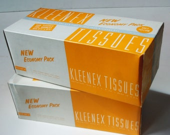 Kleenex Tissues / Old New Unused Stock /  YELLOW TISSUES from the past!