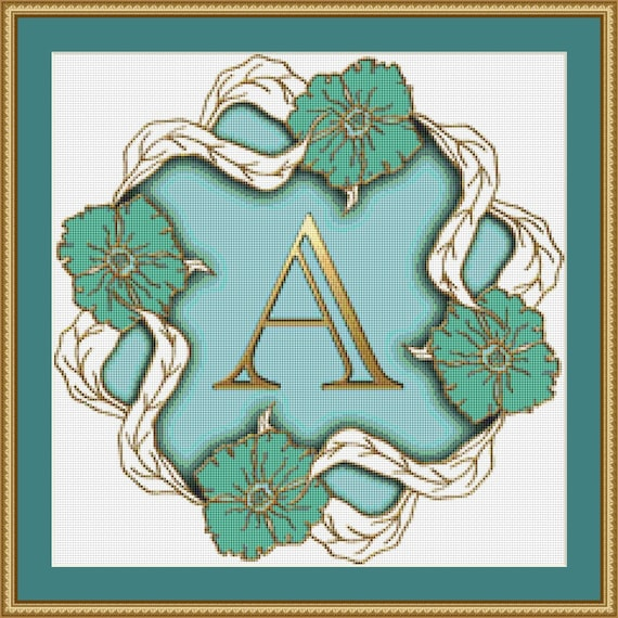 Letter A Cross Stitch Pattern /Digital PDF Files /Instant downloadable