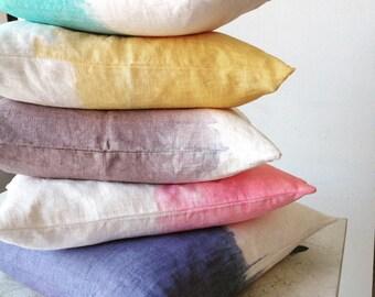 DipDye Pillow - ombre pillow - linen pillow COVER ONLY