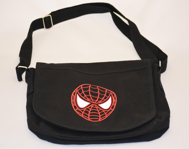 c5d7467e898 CLOSE OUT SALE Spiderman Canvas Messenger Bag Book Bag