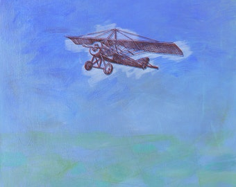 fine art painting - Imaginary Journey - original painting by Irene Stapleford - wall decor - wantknot shop