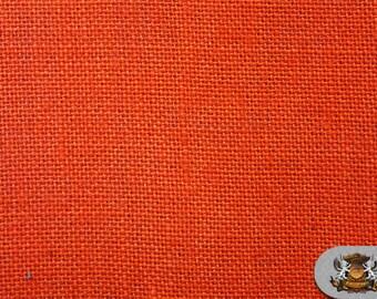 "Burlap Jute ORANGE Fabric / 58"" / Sold by the yard"