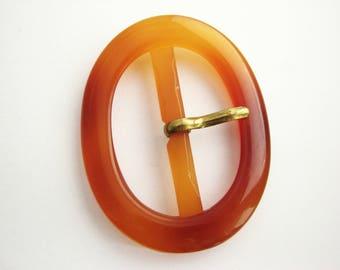 Large oval buckle, tortoise imitation buckle made of plastic, UNUSED!!