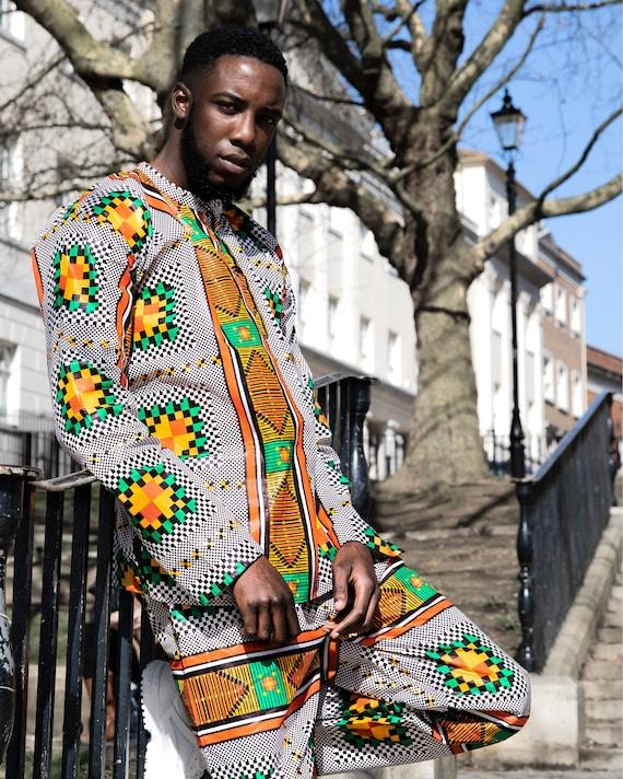 African Top Ethnic Shirt African Shirt Kente Shirt Festival Shirt 90s Clothing Boho Clothing Funky Shirt African Clothing Mens Shirt HmMQI