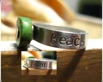"""Sterling Silver """"Beach Bum"""" Turquoise Ring Size 8"""