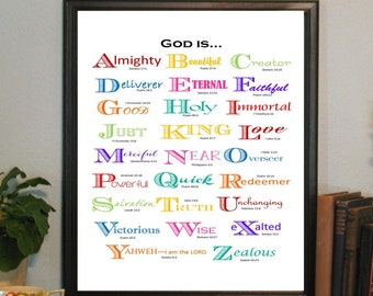 Abc scripture cards bible memory verses christian gift abcs of god attributes abc bible verses teaching scripture negle Images