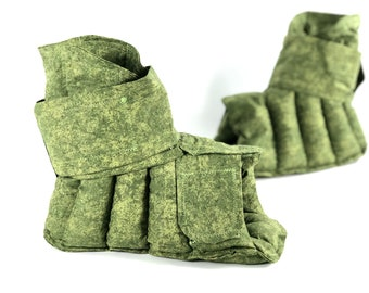 Foot Wrap, Heat Therapy Rice Bag, Pain Relief, Heating Pad, Foot Warmer, Cold Pack, Arthritis, Plantar Fasciitis, Sprained Ankle, Green