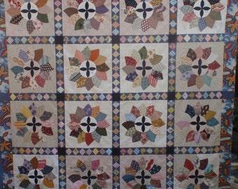 1800s Sunflower quilt pattern