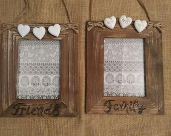 Wooden picture frames. Friends / Family