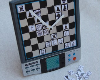 Chess machine board wall table desk clock, suitable for traditional manual playing with magnetic chess pieces, chessmen for chess players