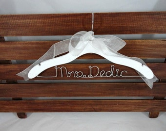 Custom Hangers - Bridal Dress Hangers - Personalized Hanger - Photo Prop - Bridal Accessories - Wedding Dress Hangers - Bride Hangers - Gift