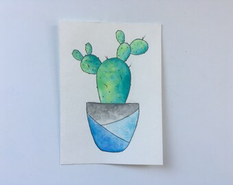 Watercolor Cactus, Original Watercolor Cactus, Cactus Wall Art, Succulent Art, Succulent Painting, Cactus Art, Framed Art, Gifts for Her