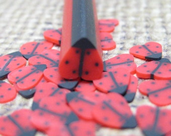 ladybug cane polymer clay lady bug uncut 1pc red beetle for miniature kawaii decoden and nail art supplies