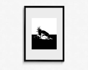 The cat - giclée print
