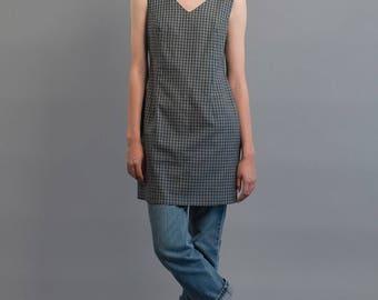 Vintage 90s Plaid Dress / Shift Dress / Esprit Dress / Tank Dress / Minimalist Dress Δ size: M