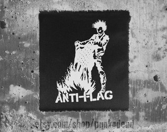 Anti-Flag Burning Flag Government-issue patch • punk patch • anti government • punk aufnäher • custom patches