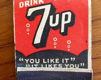 Vintage 7up Matchbook