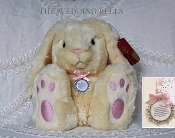 Flower Girl Bridesmaid 'Lily' Bunny with something old Charm