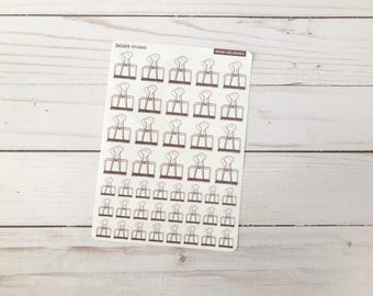 Vintage Binder Clip Stickers for Journals & Planners