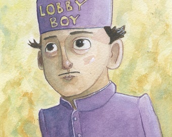 Zero - Original Watercolor - Grand Budapest Hotel