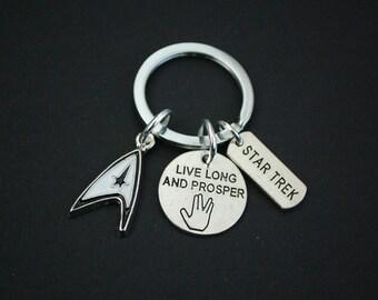 Star Trek live long and prosper vulcan keyring