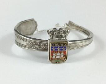 French Bracelet, La Rochelle, Vintage France, Spoon Cuff, Silver Cuff, Spoon Bracelet, Spoon Jewelry, Silver Spoon Bracelet, Wife Gift