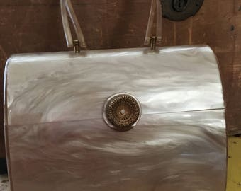 1940s Wilardy Purse Champagne in Exquisite Condition  02262