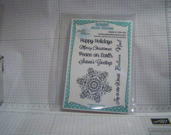 Elegant Holiday Greetings by Jaded Blossom