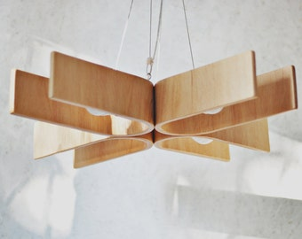 etsy lighting. Hanging Lamp With Natural Wood Texture (28x28 Inches), Plywood Chandelier Etsy Lighting R