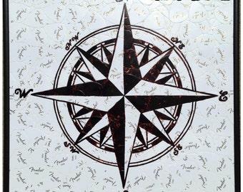 Compass Guitar Pick Art