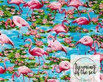 Timeless Treasures Flamingo Fabric // Quilting Cotton // Cotton Woven // 100% cotton // Flamingo Fabric