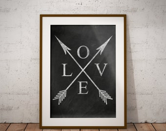Love,rustic,chalkboard printable,arrows,farmhouse print,typography print,farmhouse decor,8x10,11x14,16x20,romantic,bedroom art