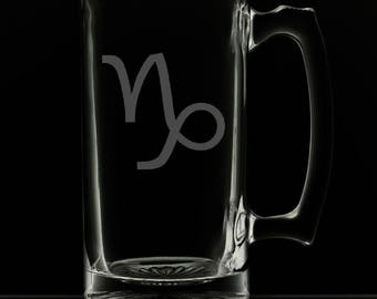 25 Ounce Capricorn Personalized Beer Mug