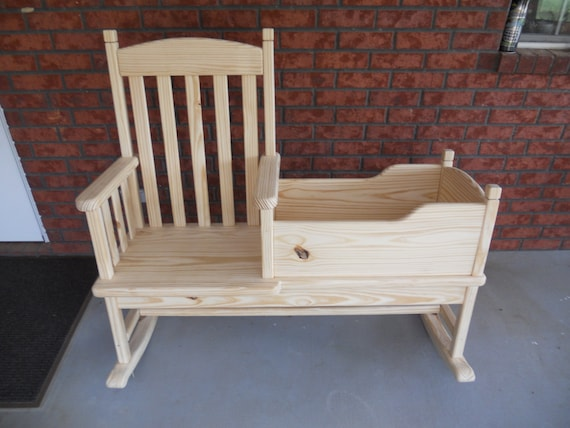 Charmant Items Similar To Mom And Me Rocking Chair U0026 Cradle Combination. On Etsy