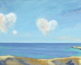 Love Clouds blank card Valentine