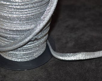 5 m 10mm silver lurex piping