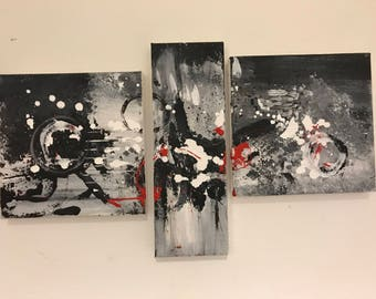 Abstract expressionism painting, abstract art, original art, wall decor, canvas painting