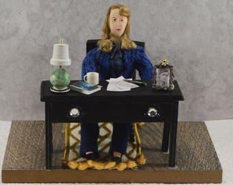 Sylvia Plath American Poet Diorama Scene Bibliophilia Art
