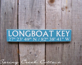 Signs, Custom, Coordinates, Latitude, Longitude, Coastal Living, Nautical, Door Decor, Handpainted, Beach, Christmas Gifts
