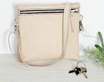 Leather Crossbody Purse - Leather Shoulder Bag - Leather Handbag - Leather Fanny Pack Purses - Leather Purse - Leather Hip Bag - Handmade