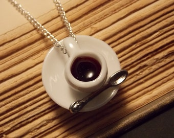 Coffee Cup Necklace