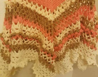 Crochet Poncho for girls 12 to 15 years old