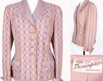 Vtg Jacket 1940/50s // VIntage Donenfeld's Inc Dayton Ohio 40s 50s Blazer // M