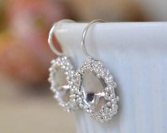 Sterling Silver Granulation Domed Earrings. Granulation Earrings. Domed Earrings. Wedding Earrings. Gift For Her.