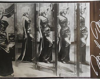 MARILYN MONROE Hall Of Mirrors 35 x 23 Inch Vintage Black And White POSTER