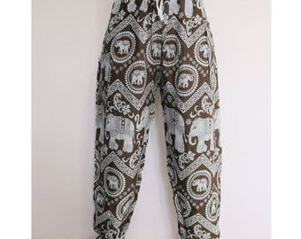 Thai harem pants Brown - Lapin.DIY