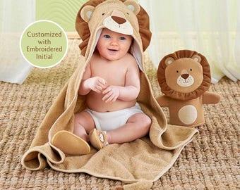 Lion Hooded Towel Bath Set, Baby Bath Towel, Terry Cloth Towel, Hooded Towel, Baby shower gift, Baby christmas gift, Baby Aspen Towel
