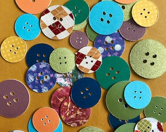 30 Paper Button Embellishment